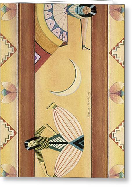 Decorativ Pastels Greeting Cards - Two Dancers Greeting Card by Sally Appleby