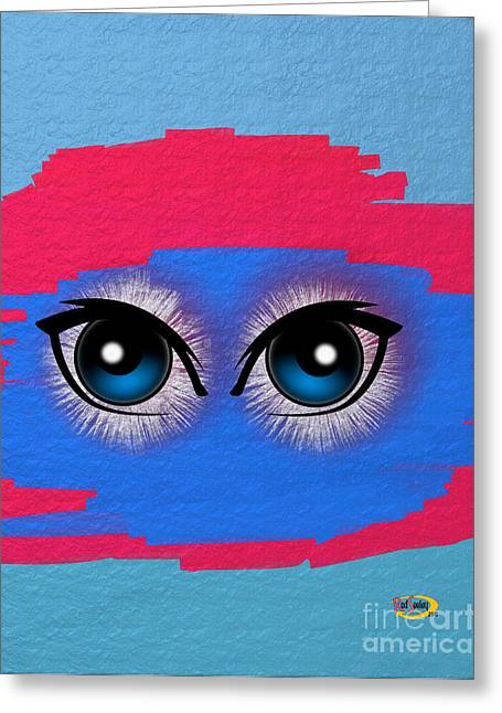 Two Eyes Greeting Card by Rod Seeley