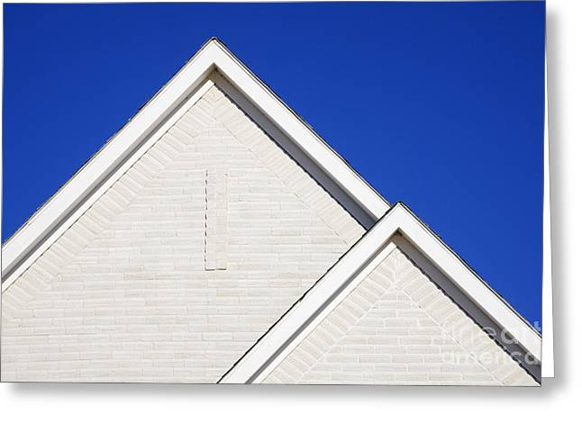 Gabled Greeting Cards - Two Gabled Rooflines Greeting Card by Jeremy Woodhouse