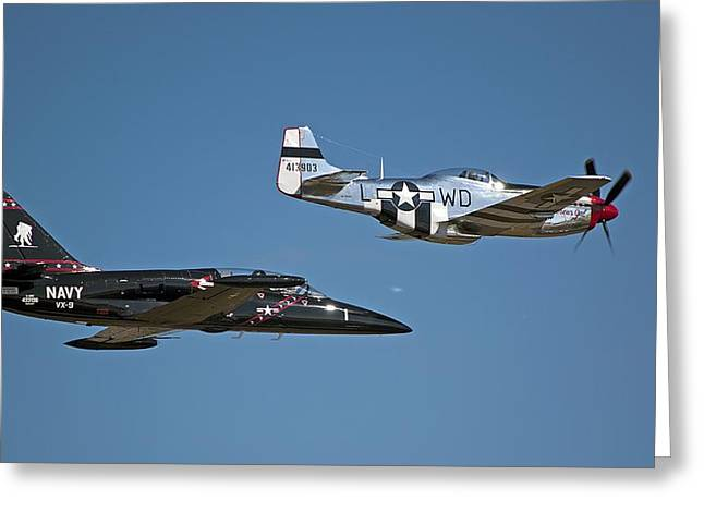 Two Generations of Aircraft Greeting Card by Kenneth Albin