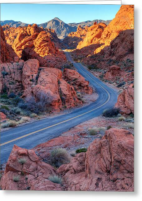Road Travel Greeting Cards - Two Lane Splendor Greeting Card by James Marvin Phelps