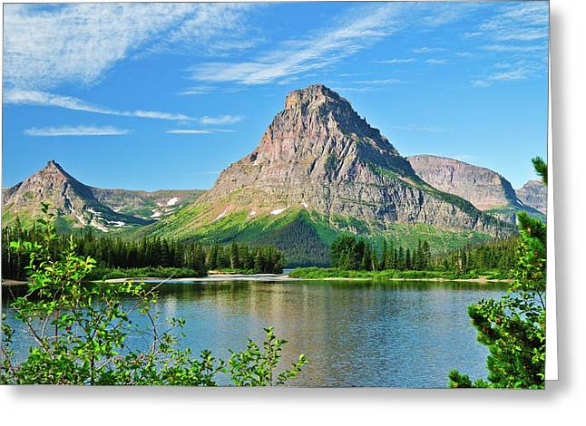 Glacier National Park Greeting Cards - Two Medicine Greeting Card by Greg Norrell