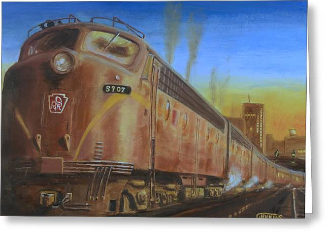 Railroad Greeting Cards - Two Minutes Late Greeting Card by Christopher Jenkins