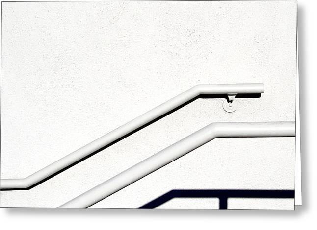 Two Rails Greeting Card by CML Brown