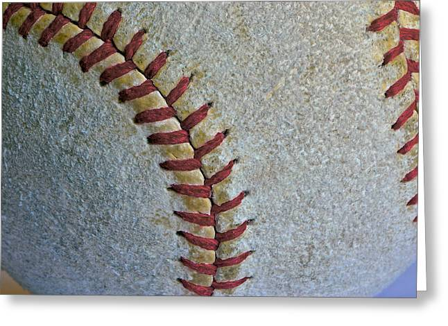 Fastball Greeting Cards - Two Seamer Greeting Card by Bill Owen