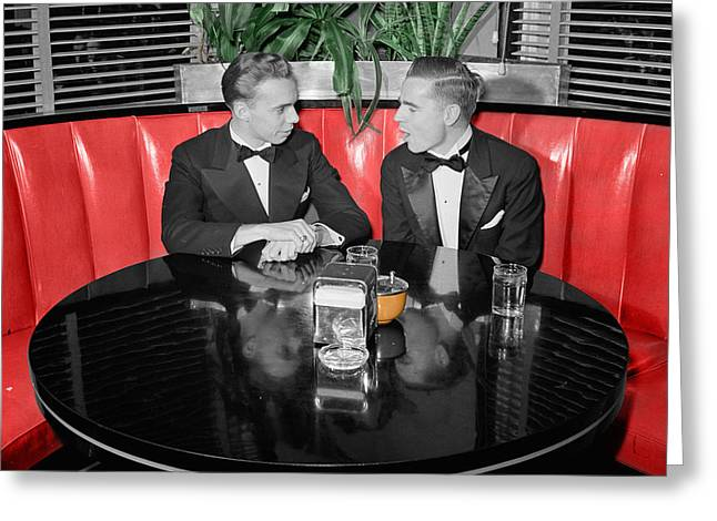 Tuxedo Greeting Cards - Two Tuxedos Greeting Card by Andrew Fare