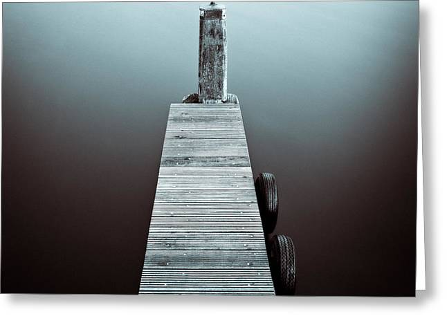 Jetty Greeting Cards - Two Tyres Greeting Card by Dave Bowman