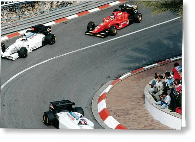 Negotiate Greeting Cards - Two Tyrrells Plus Ferrari Greeting Card by John Bowers