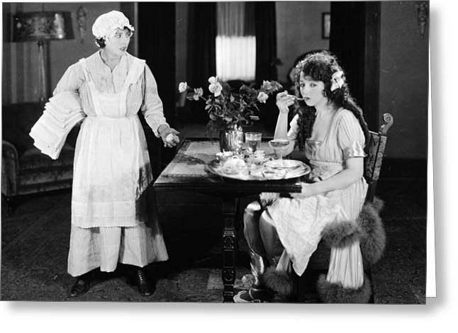 Apron Greeting Cards - Two Weeks With Pay, 1921 Greeting Card by Granger