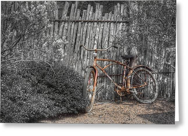 Rust Greeting Cards - Two Wheels Greeting Card by Scott Norris