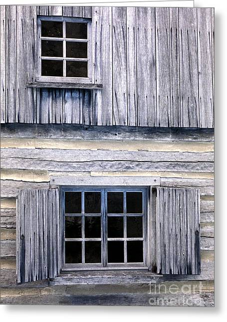 Cabin Window Photographs Greeting Cards - Two Windows Greeting Card by Paul W Faust -  Impressions of Light