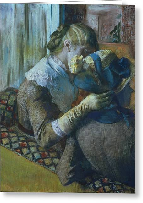 Degas; Edgar (1834-1917) Greeting Cards - Two Women Greeting Card by Edgar Degas