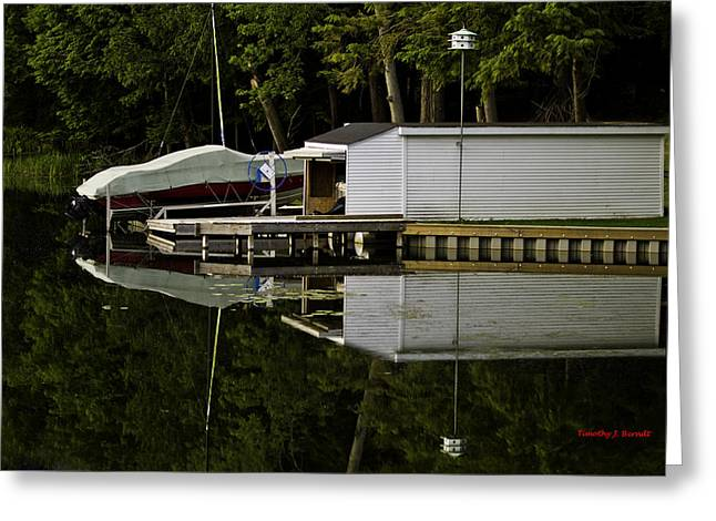 Hamlin Lake Greeting Cards - TWOs Greeting Card by Timothy J Berndt