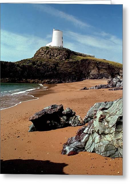Llanddwyn Island Greeting Cards - Twr Mawr on Ynys Llanddwyn Greeting Card by Peter OReilly