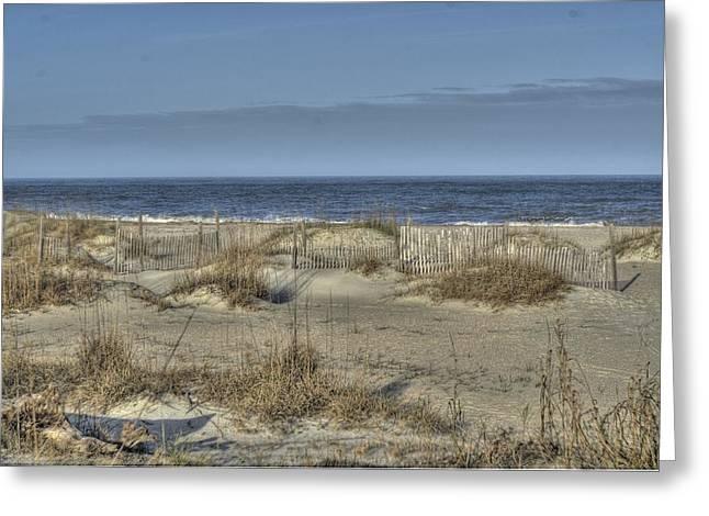 Tybee Dunes Greeting Card by Howard  Hackney