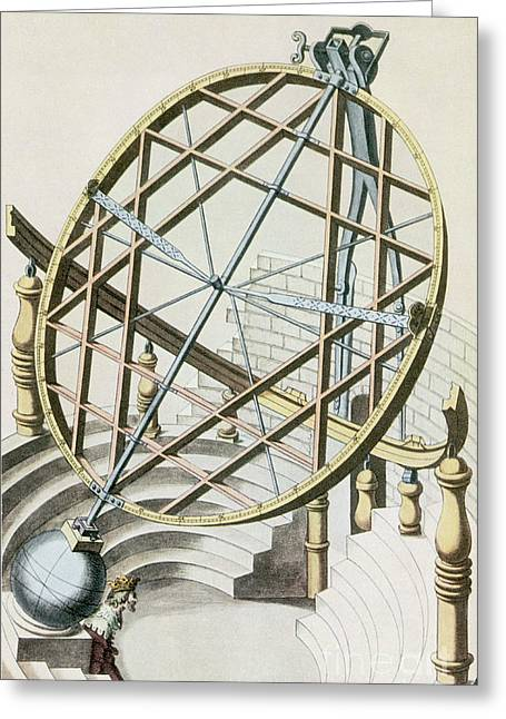 Armillary Greeting Cards - Tycho Brahes Armillary Sphere Greeting Card by Science Source