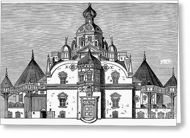 Tycho Brahes Observatory Greeting Card by Granger