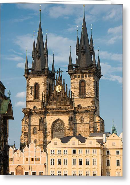 Markt Greeting Cards - Tyn Church - Old Town of Prague - Czech Republic Greeting Card by Matthias Hauser