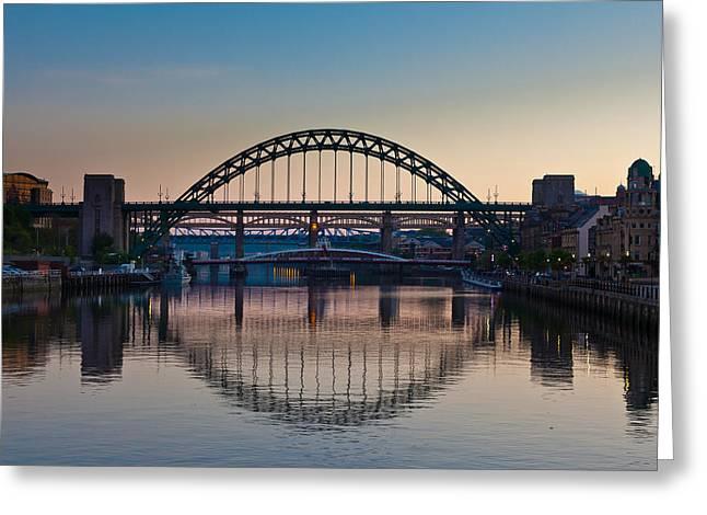 Elizabeth Edwards Greeting Cards - Tyne Bridges Greeting Card by Gary Finnigan