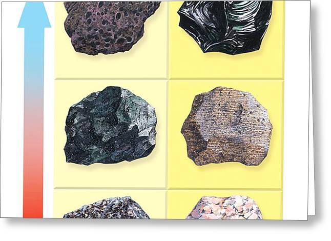 Types Of Volcanic Rock Greeting Card by Gary Hincks