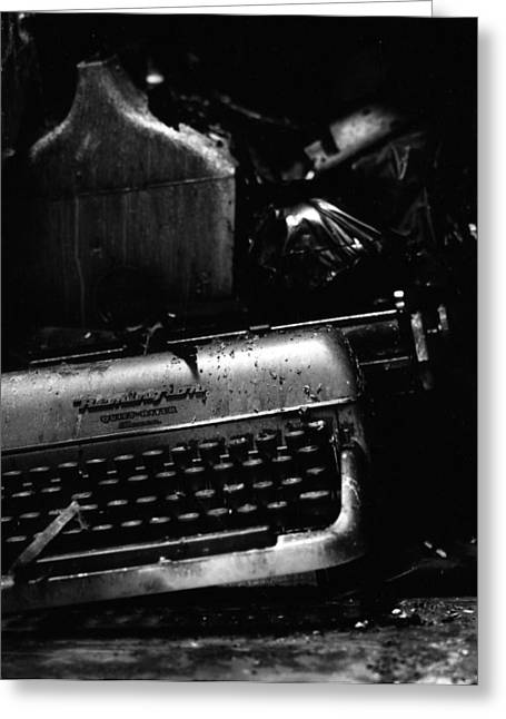 Olivetti Photographs Greeting Cards - Typewriter Greeting Card by Eric Tadsen