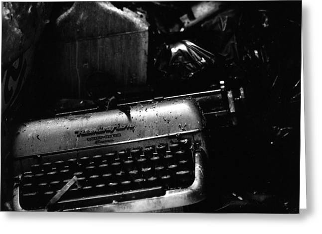 Typewriter Greeting Card by Eric Tadsen