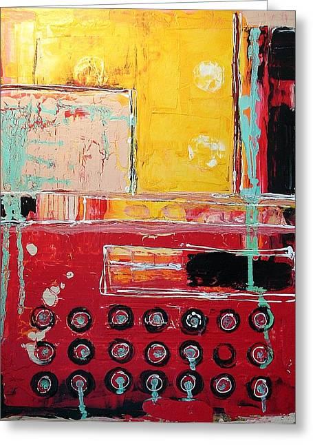 Typewriter Mixed Media Greeting Cards - Typewriter Greeting Card by Kathy Augustine MFA