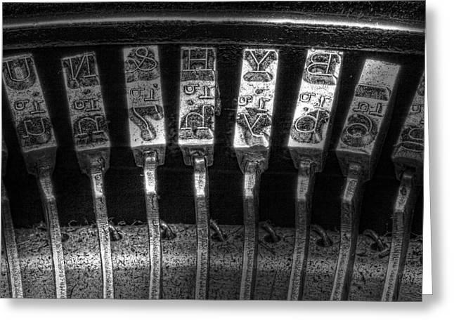 Typewriter Keys Photographs Greeting Cards - Typewriter Keys Greeting Card by Tom Mc Nemar