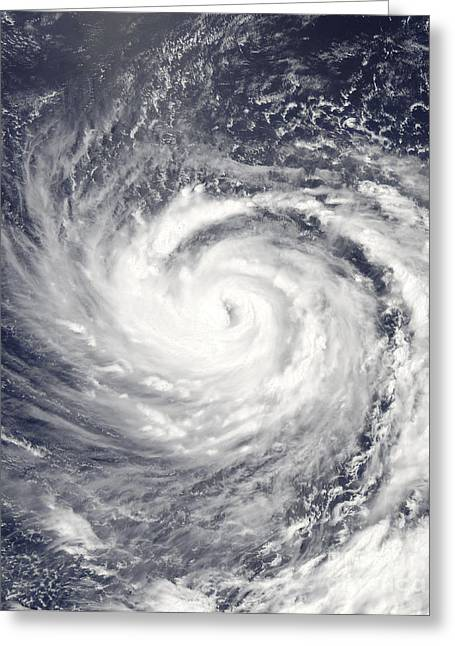 Mariana Greeting Cards - Typhoon Ma-on Over The Northern Mariana Greeting Card by Stocktrek Images
