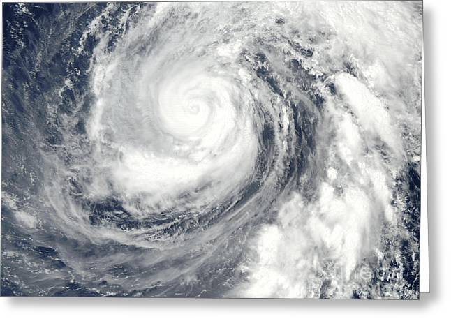 True Colors Greeting Cards - Typhoon Phanfone Greeting Card by Stocktrek Images