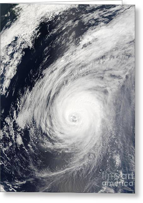 True Colors Greeting Cards - Typhoon Sudal South Of Japan Greeting Card by Stocktrek Images