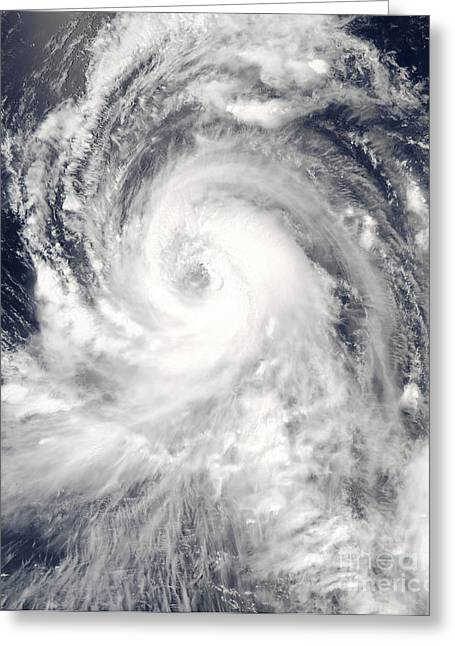 True Colors Greeting Cards - Typhoon Tingting Over The Northern Greeting Card by Stocktrek Images