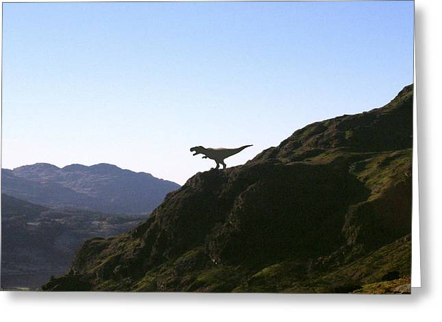 T-rex Greeting Cards - Tyrannosaurus Rex Dinosaur Greeting Card by Christian Darkin