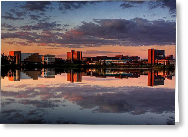 Amherst Greeting Cards - UB Campus Across The Pond Greeting Card by Don Nieman