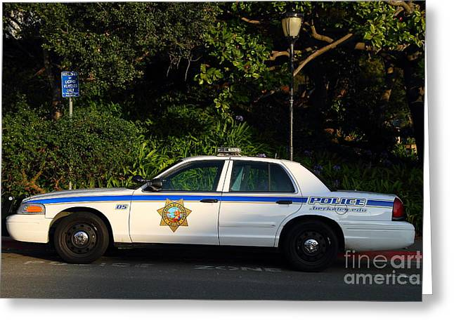 Ucb Greeting Cards - UC Berkeley Campus Police Car  . 7D10178 Greeting Card by Wingsdomain Art and Photography