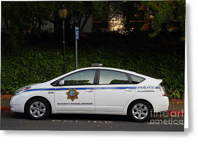 Ucb Greeting Cards - UC Berkeley Campus Police Car  . 7D10181 Greeting Card by Wingsdomain Art and Photography
