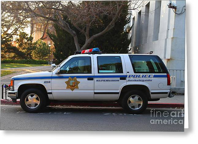 Ucb Greeting Cards - UC Berkeley Campus Police SUV  . 7D10182 Greeting Card by Wingsdomain Art and Photography