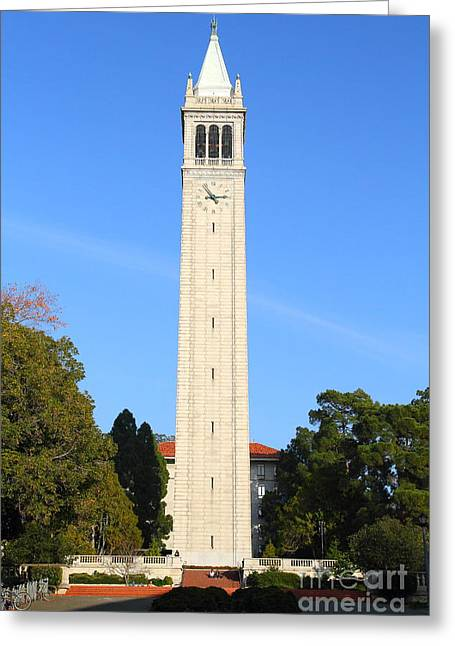 Uc California Greeting Cards - UC Berkeley . Sather Tower . The Campanile . 7D10050 Greeting Card by Wingsdomain Art and Photography
