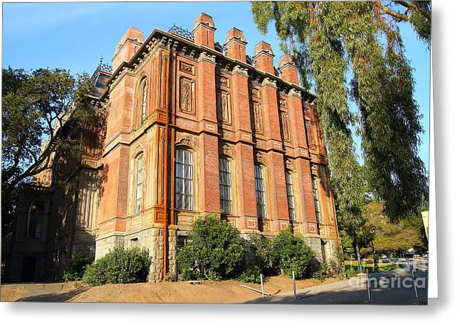 Built 1873 Greeting Cards - UC Berkeley . South Hall . Oldest Building At UC Berkeley . Built 1873 . 7D10113 Greeting Card by Wingsdomain Art and Photography