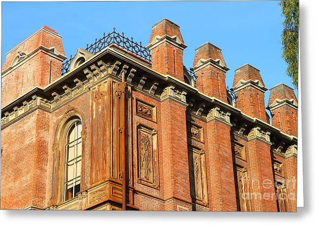 Built 1873 Greeting Cards - UC Berkeley . South Hall . Oldest Building At UC Berkeley . Built 1873 . 7D10114 Greeting Card by Wingsdomain Art and Photography