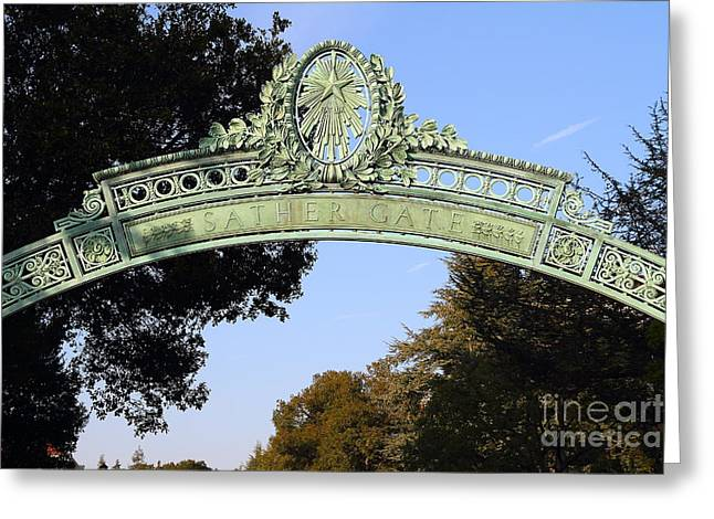 Uc Berkeley . Sproul Plaza . Sather Gate . 7d10031 Greeting Card by Wingsdomain Art and Photography