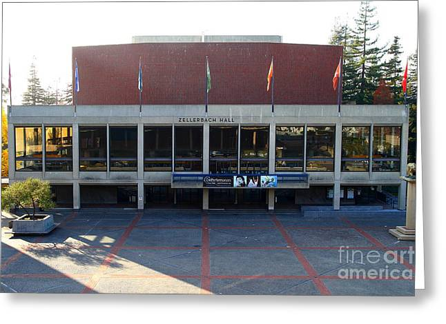 Cal Berkeley Greeting Cards - UC Berkeley . Zellerbach Hall . 7D10012 Greeting Card by Wingsdomain Art and Photography