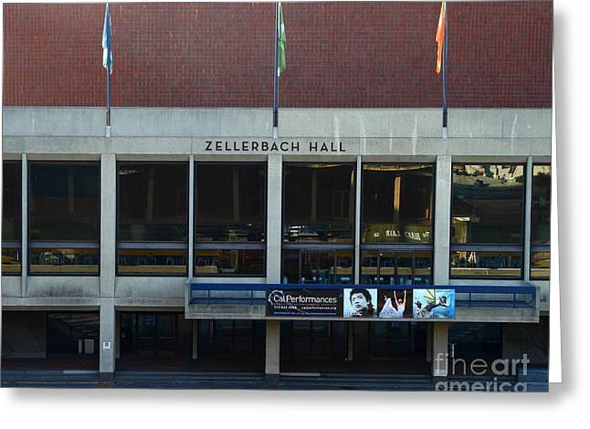 UC Berkeley . Zellerbach Hall . 7D10013 Greeting Card by Wingsdomain Art and Photography