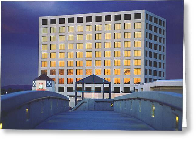Uci Greeting Cards - UC Irvine Marketplace Tower Greeting Card by Mark Greenberg