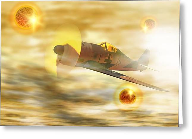 Foo Fighters Greeting Cards - Ufos From World War Ii Greeting Card by Victor Habbick Visions