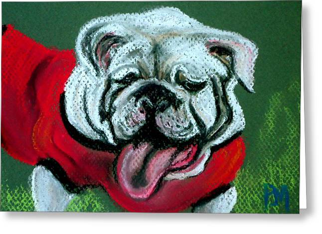 Mascot Pastels Greeting Cards - Uga Greeting Card by Pete Maier