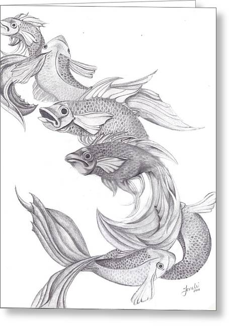 Wiccan Art Greeting Cards - Ugly Fish Greeting Card by Lorelei  Marie
