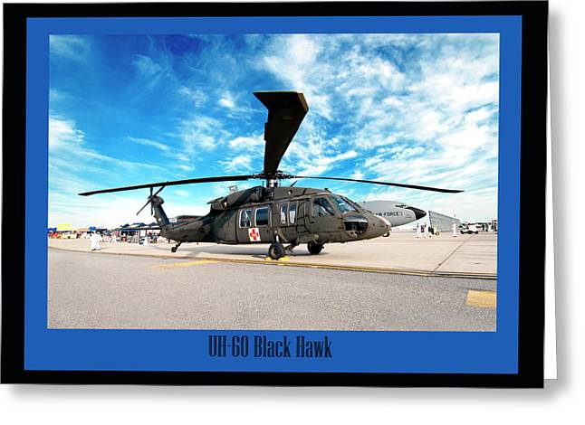 Helicopter Photographs Greeting Cards - UH-60 Black Hawk Greeting Card by Greg Fortier