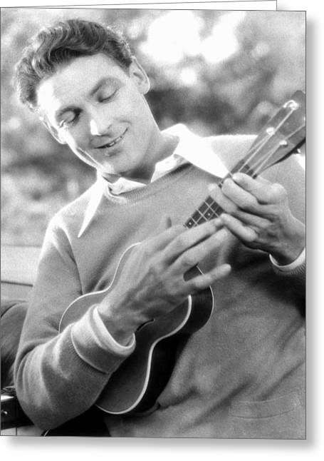 Charles Farrell Greeting Cards - UKELELE PLAYER, c1927 Greeting Card by Granger