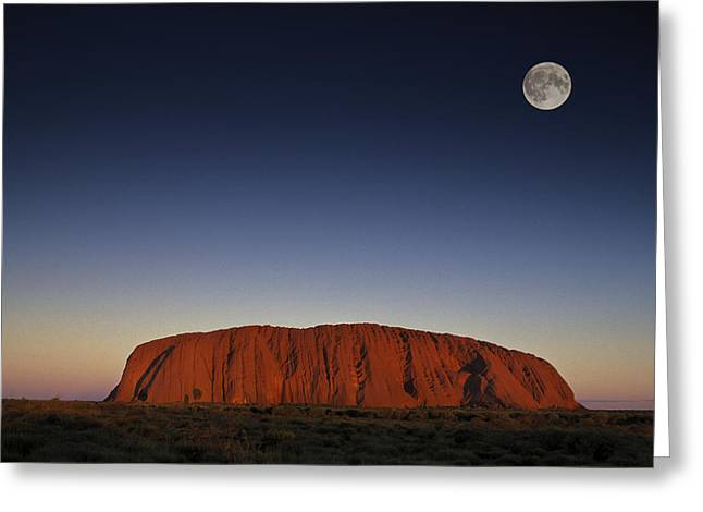 Ayers Rock Greeting Cards - Uluru Greeting Card by Christian Heeb